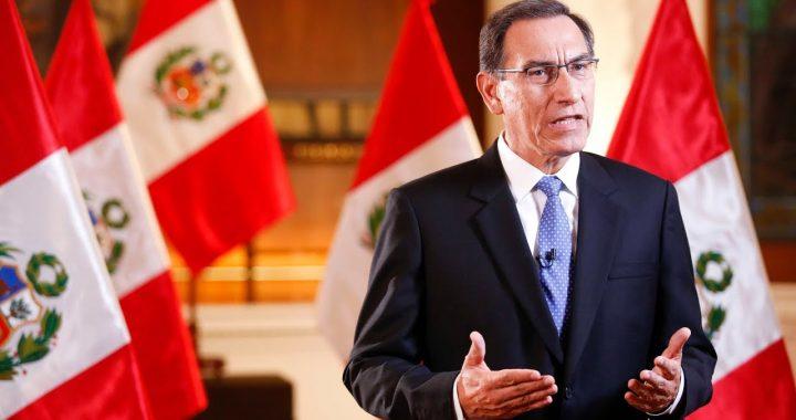 Disolución del Congreso en Perú.